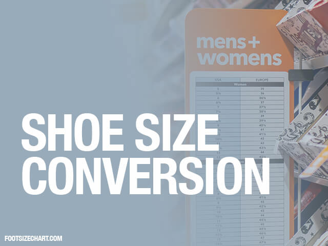 Shoe Size Conversion Us Uk Eu Shoe Size Charts